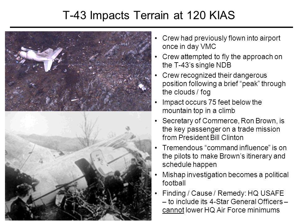 T-43 Impacts Terrain at 120 KIAS