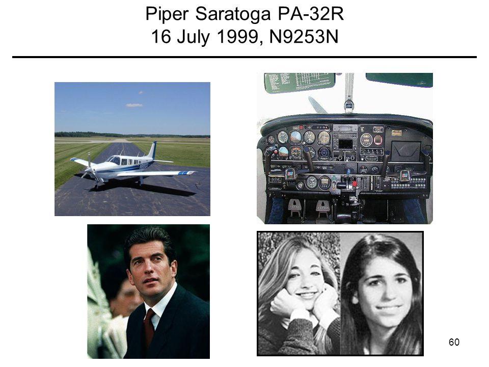 Piper Saratoga PA-32R 16 July 1999, N9253N