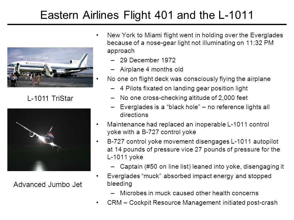 Eastern Airlines Flight 401 and the L-1011