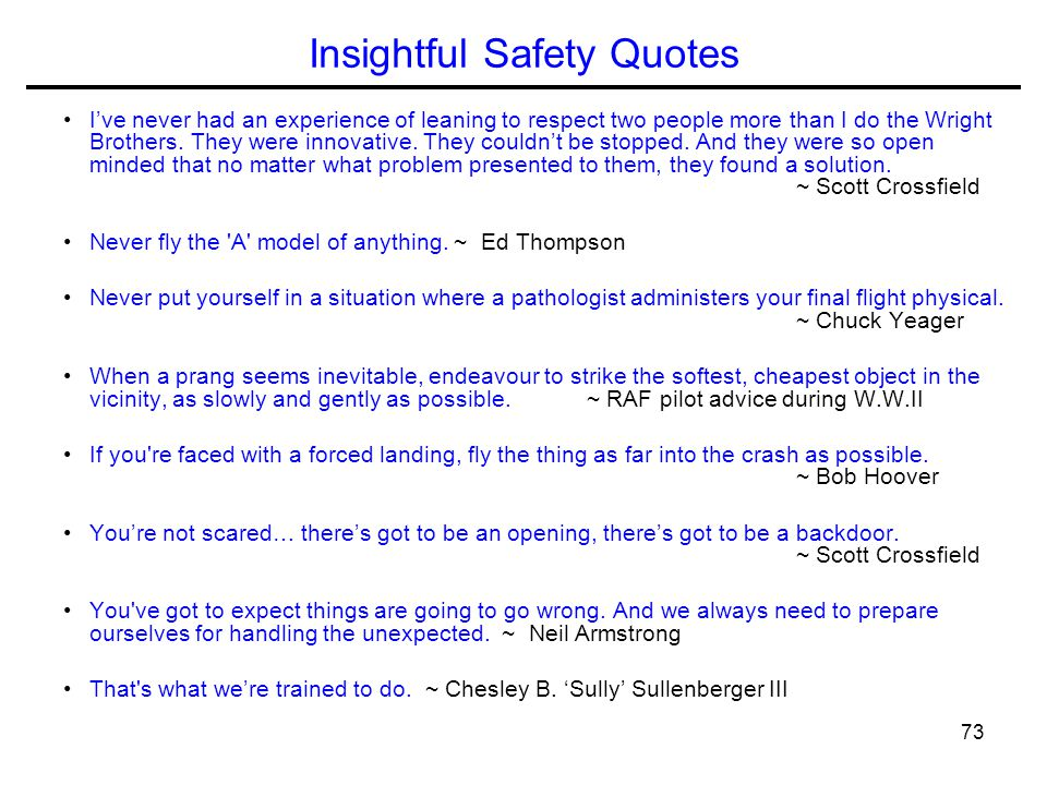 Insightful Safety Quotes