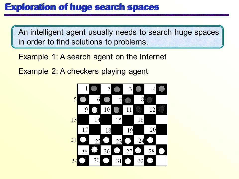 Exploration of huge search spaces