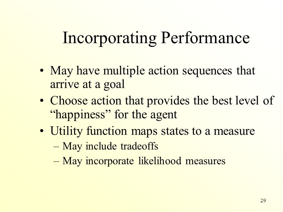 Incorporating Performance