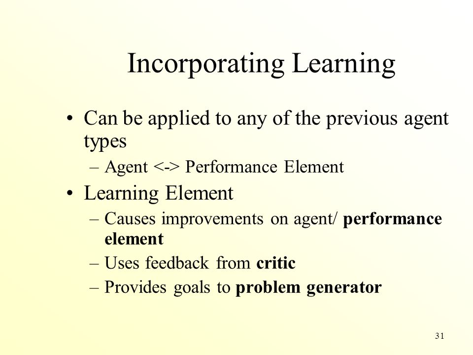 Incorporating Learning