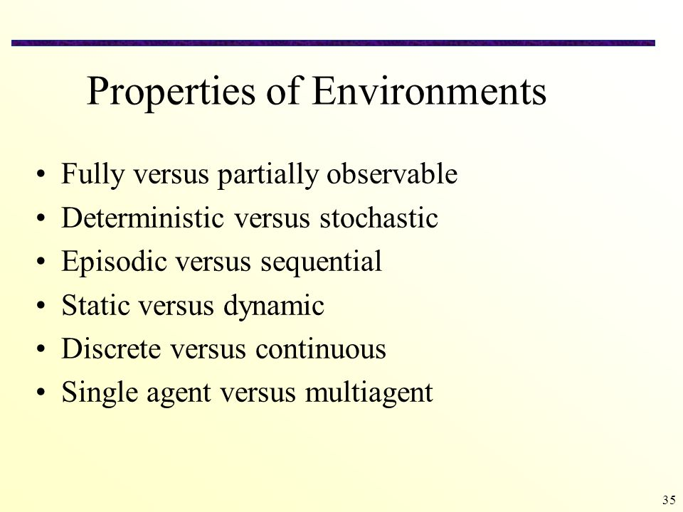 Properties of Environments