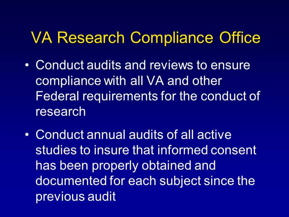 VA Research Compliance Office