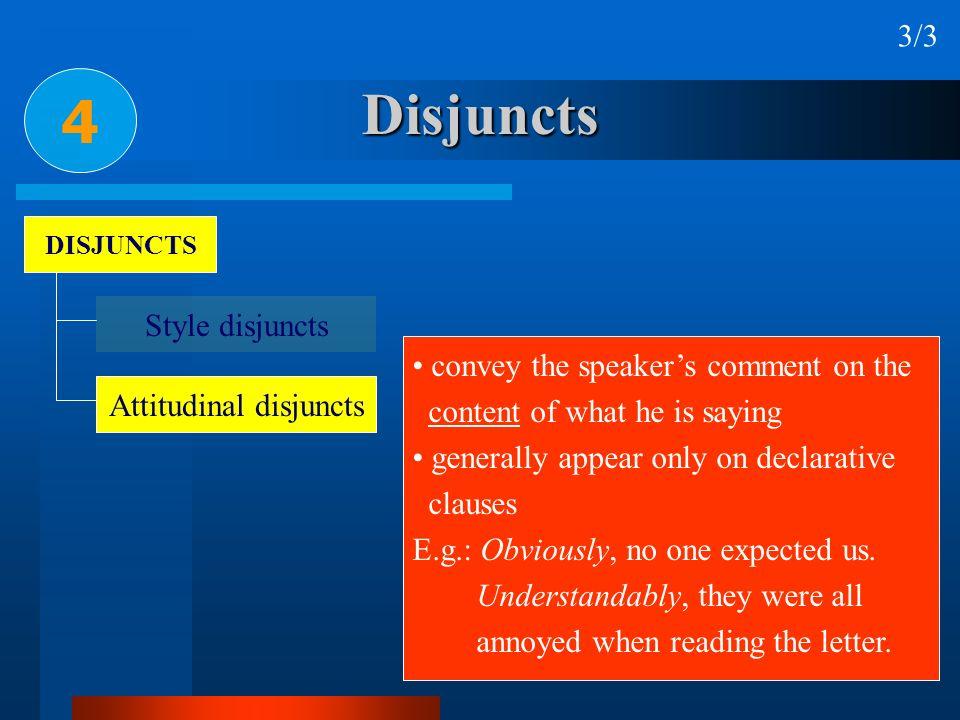 Attitudinal disjuncts