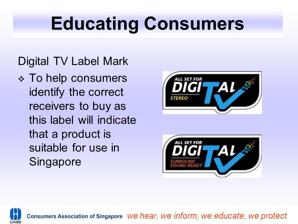 Educating Consumers Digital TV Label Mark