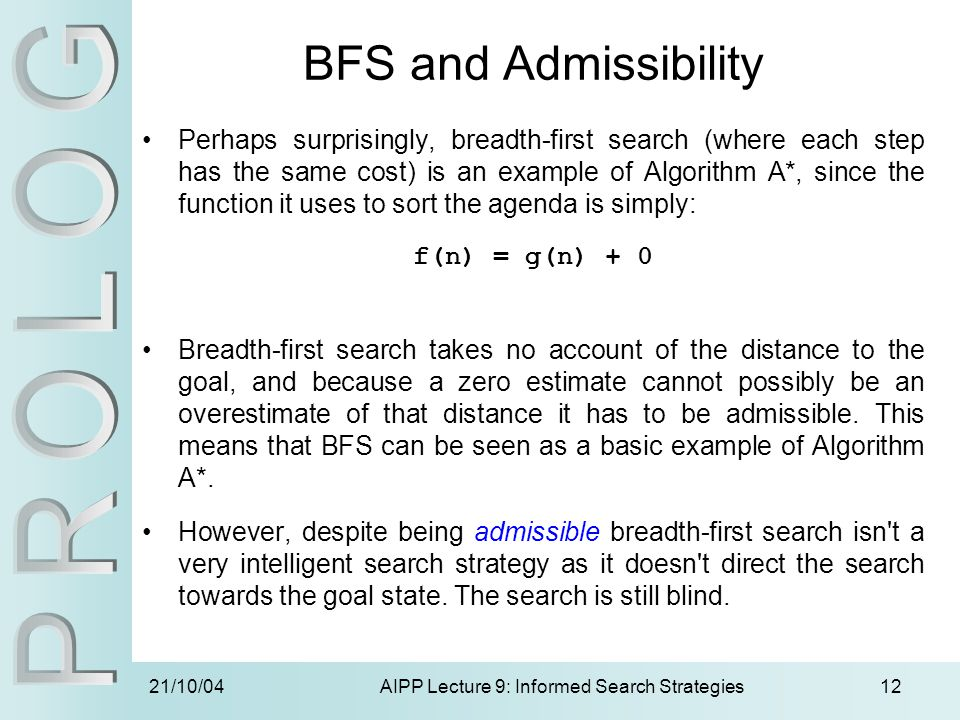 AIPP Lecture 9: Informed Search Strategies
