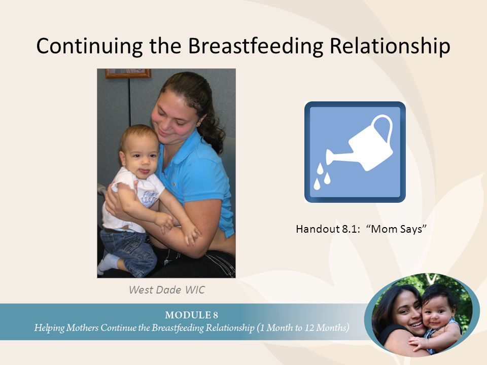 Continuing the Breastfeeding Relationship