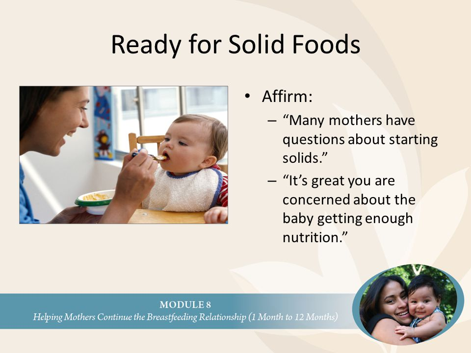 Ready for Solid Foods Affirm: