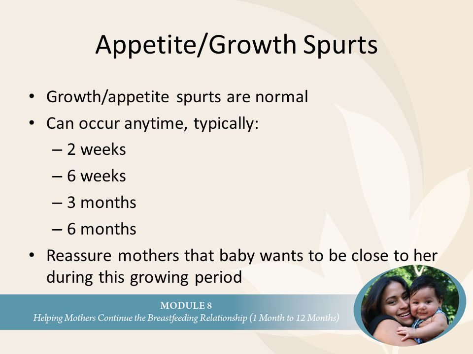 Appetite/Growth Spurts