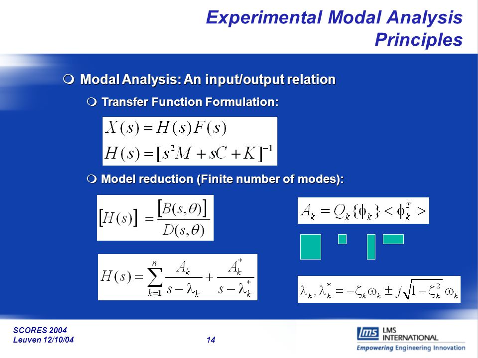 Experimental Modal Analysis Principles