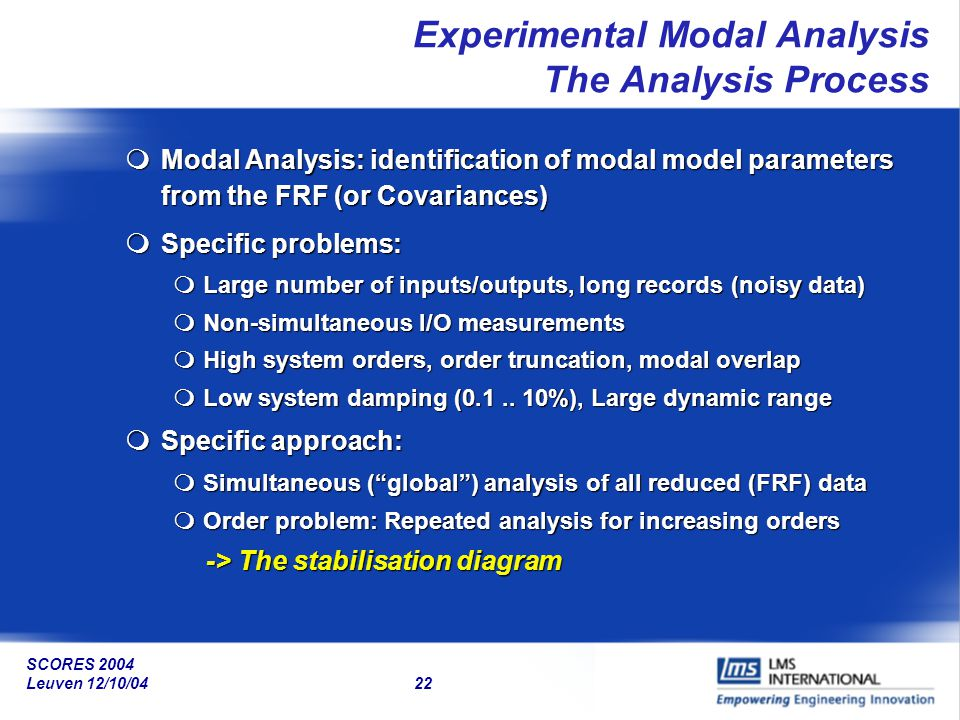 Experimental Modal Analysis The Analysis Process