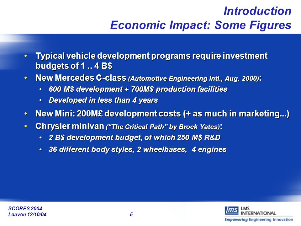 Introduction Economic Impact: Some Figures