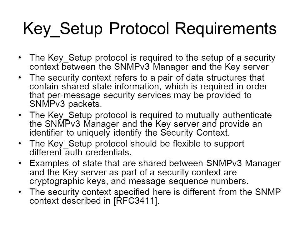Key_Setup Protocol Requirements