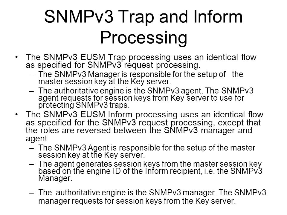SNMPv3 Trap and Inform Processing