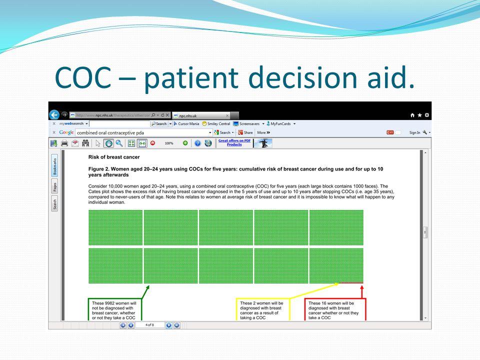 COC – patient decision aid.
