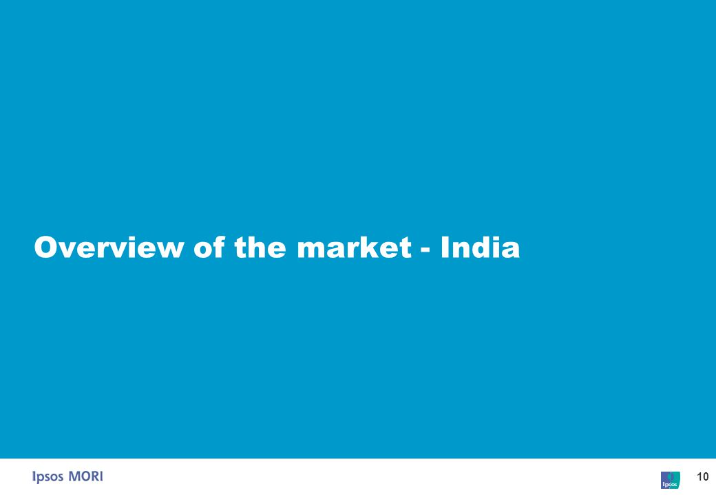 Overview of the market - India