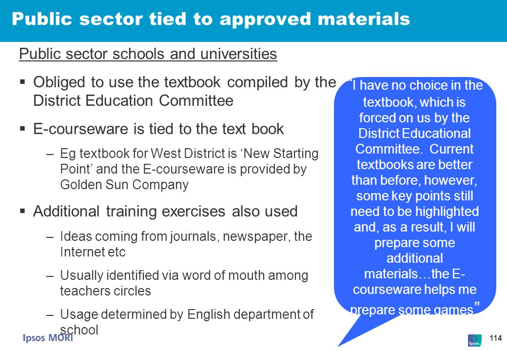 Public sector tied to approved materials