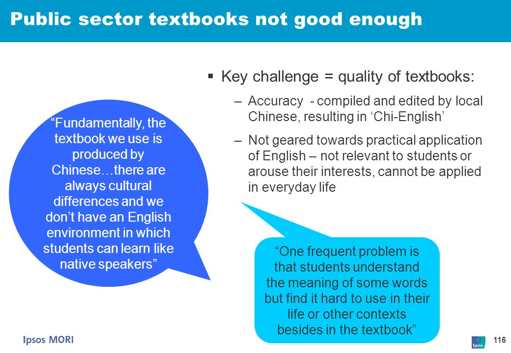 Public sector textbooks not good enough
