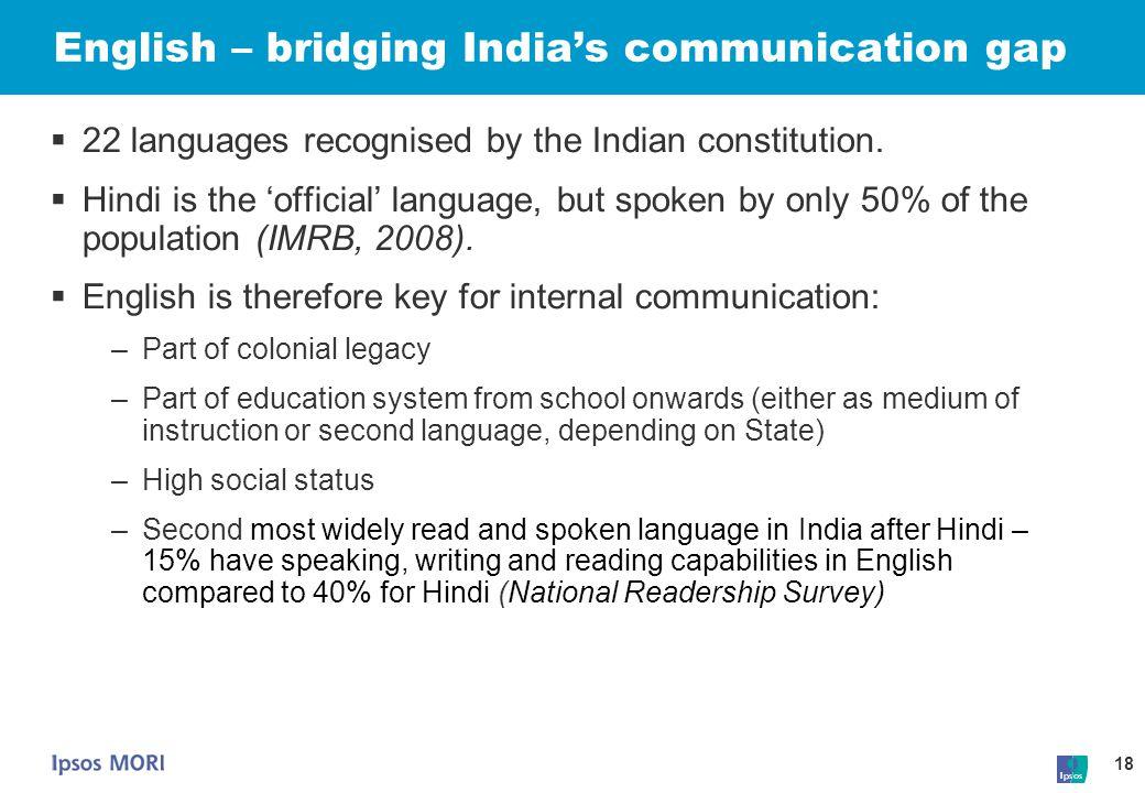 English – bridging India's communication gap