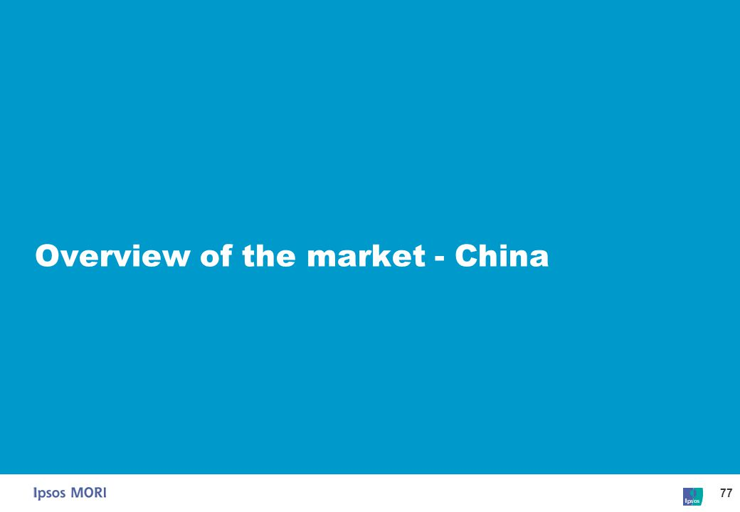 Overview of the market - China