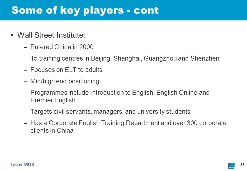 Some of key players - cont