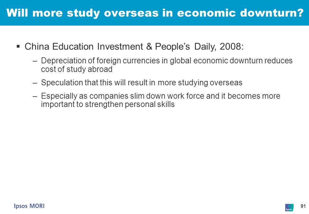 Will more study overseas in economic downturn