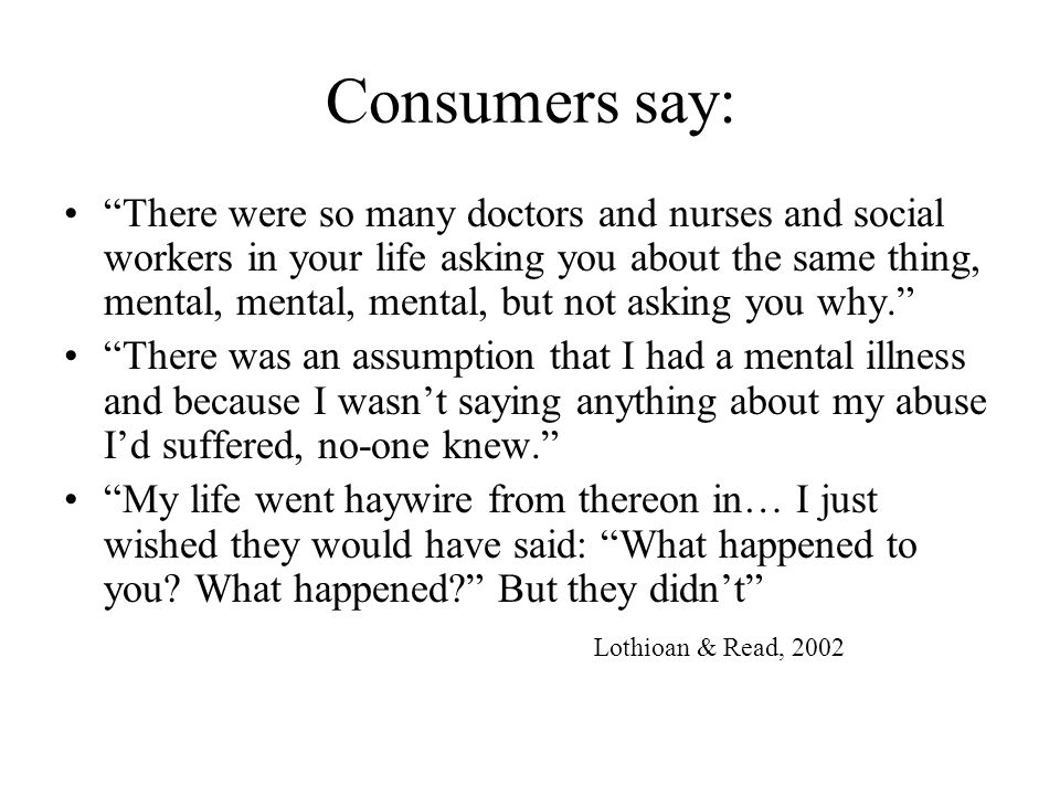 Consumers say: