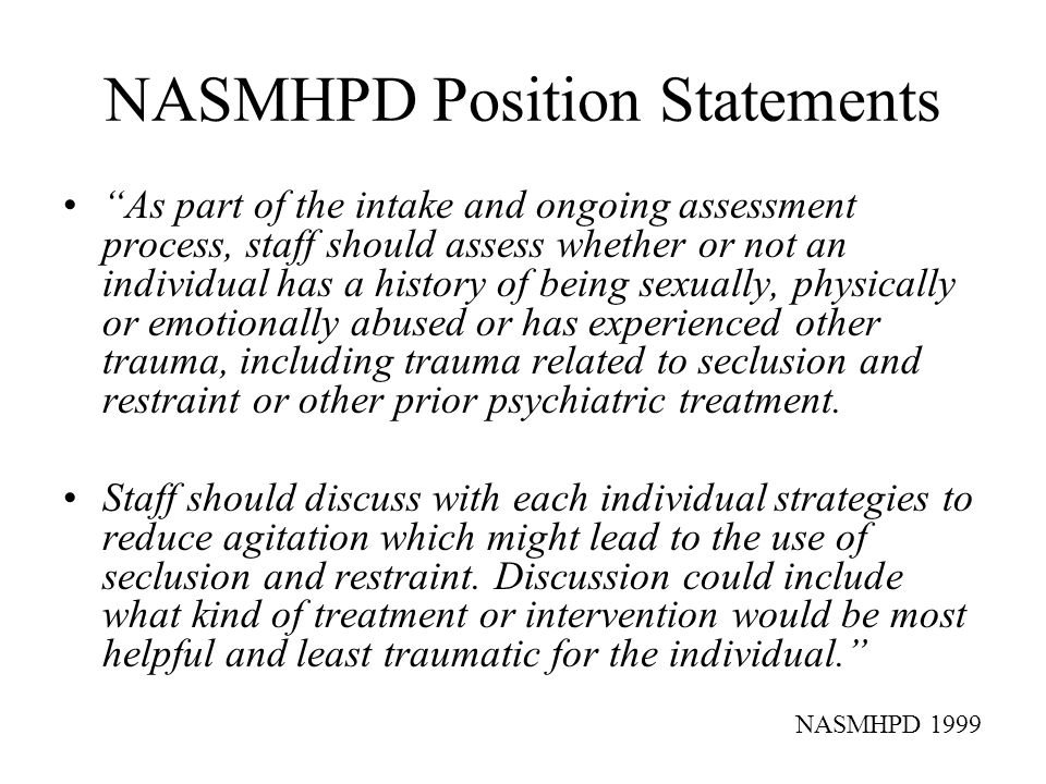 NASMHPD Position Statements