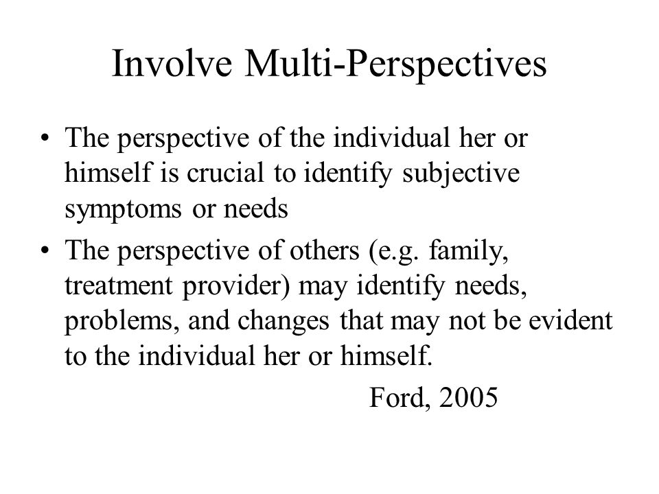 Involve Multi-Perspectives