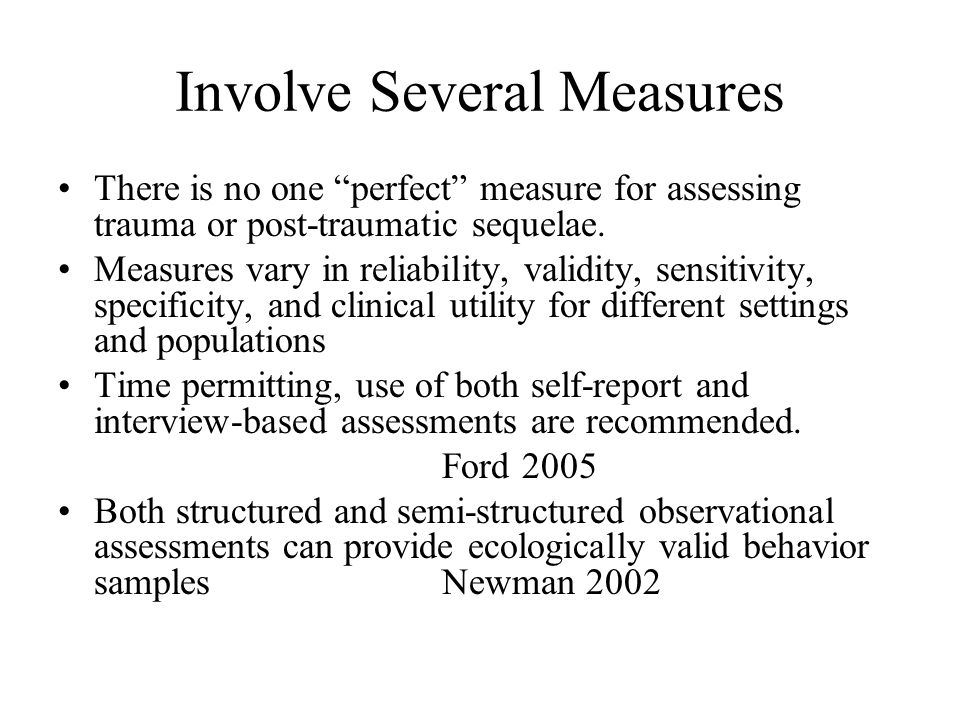 Involve Several Measures