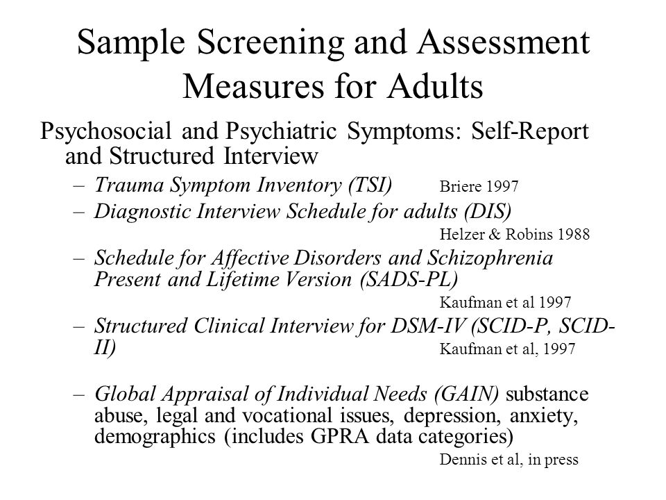 TraumaInformed Screening And Assessment  Ppt Download