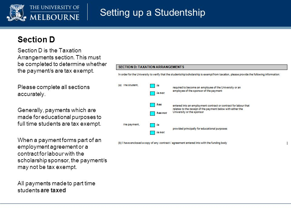 Setting up a Studentship