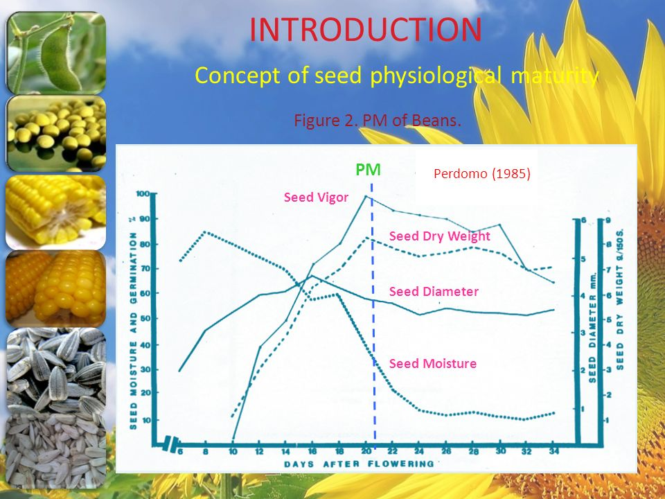 INTRODUCTION Concept of seed physiological maturity