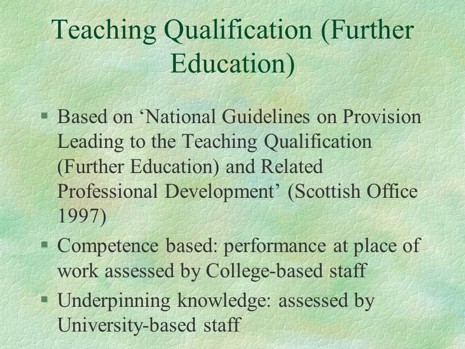 Teaching Qualification (Further Education)