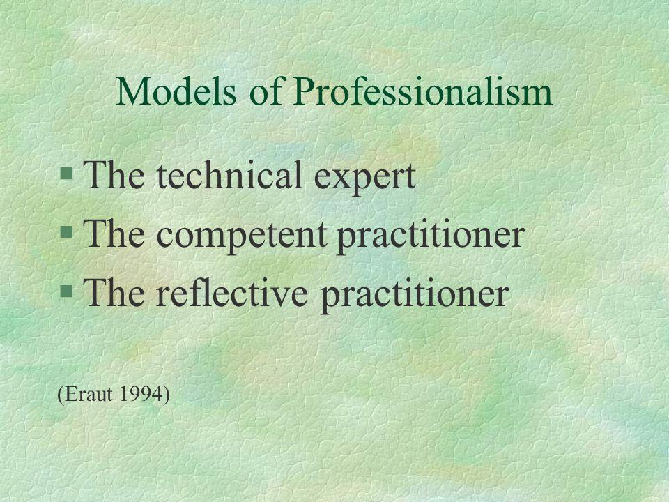 Models of Professionalism