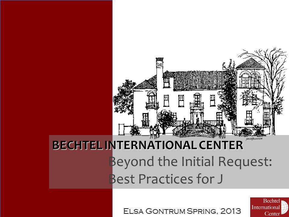BECHTEL INTERNATIONAL CENTER