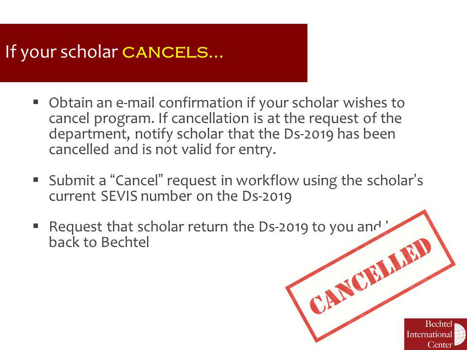 If your scholar cancels…