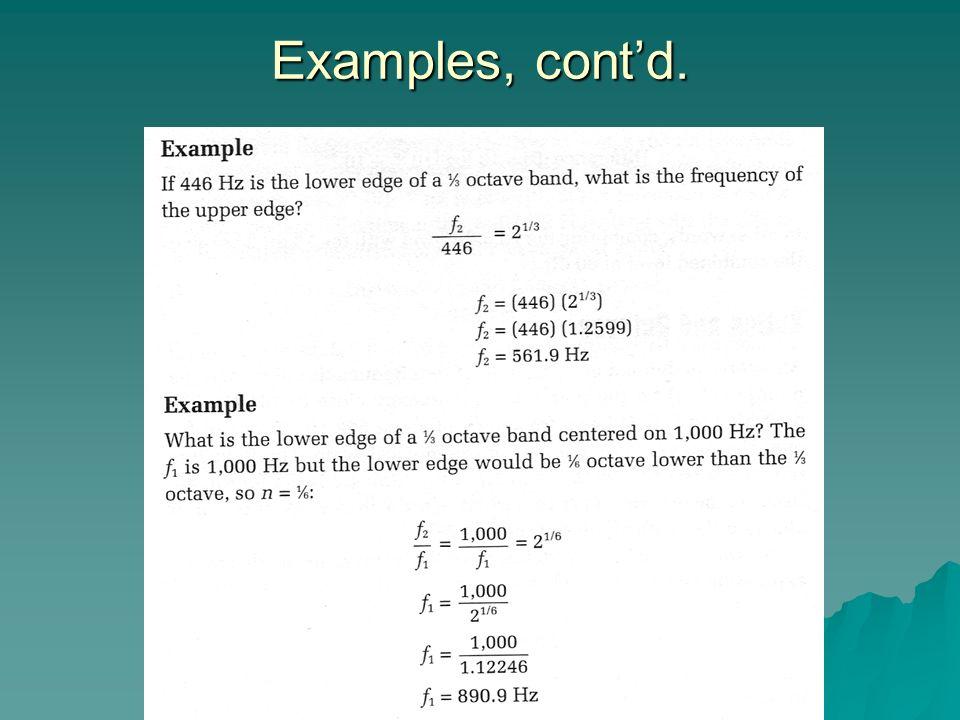 Examples, cont'd.
