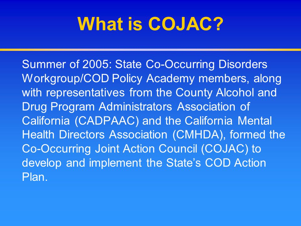 What is COJAC