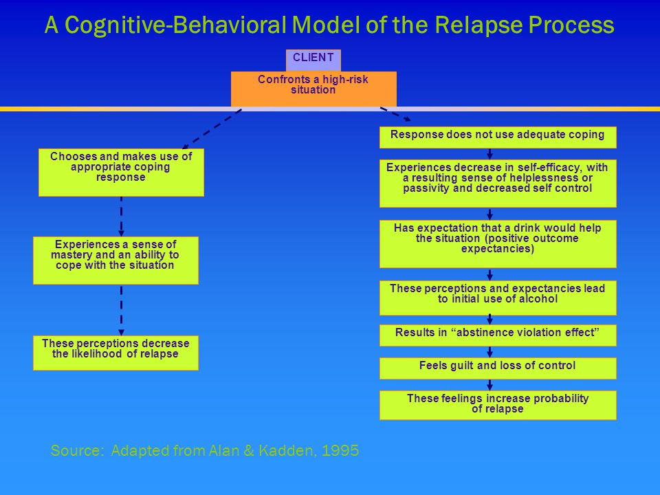A Cognitive-Behavioral Model of the Relapse Process