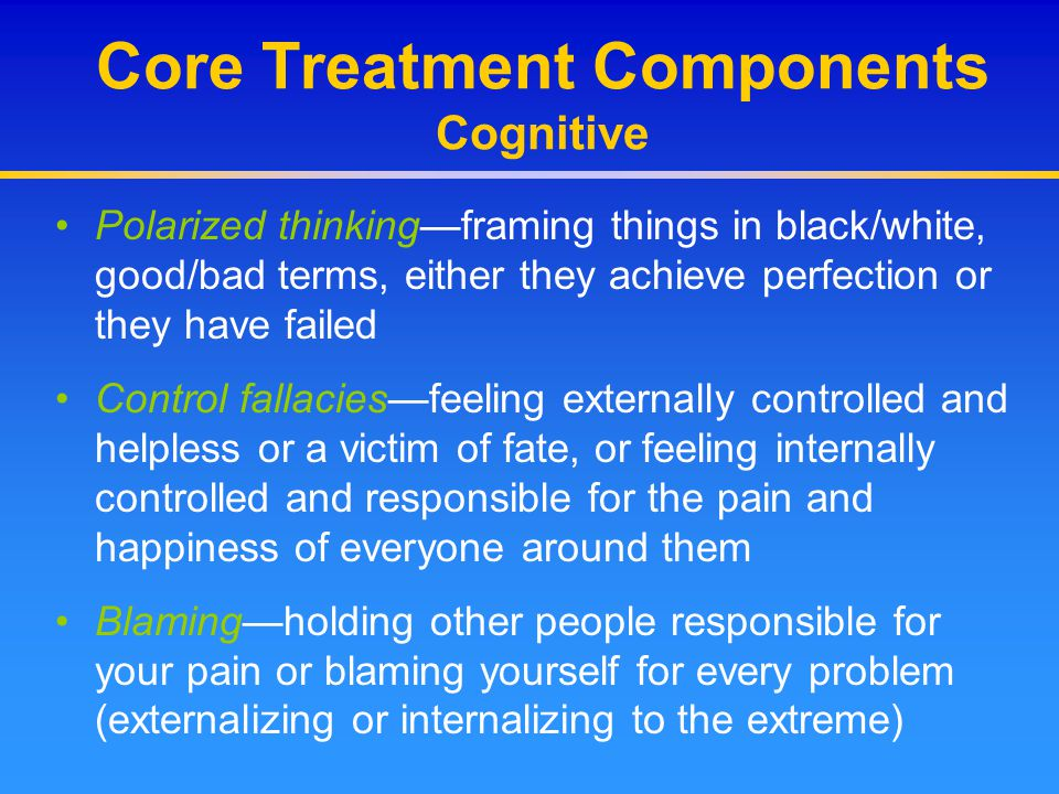 Core Treatment Components Cognitive