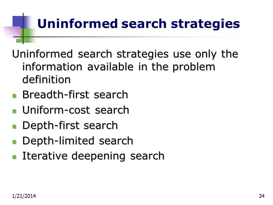 Uninformed search strategies