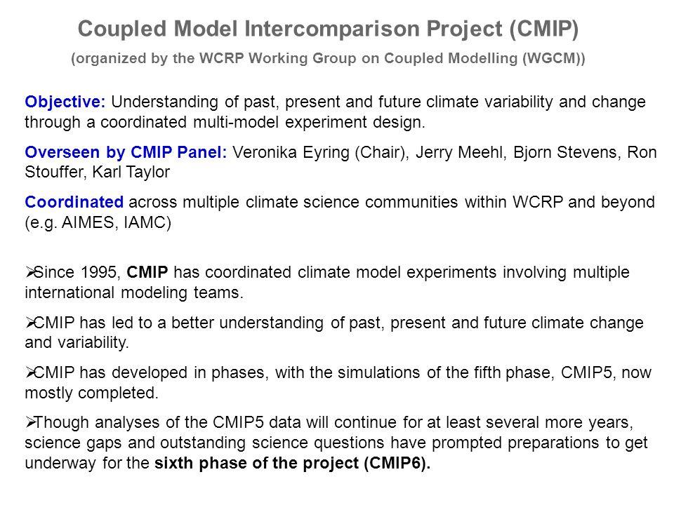 Coupled Model Intercomparison Project (CMIP)