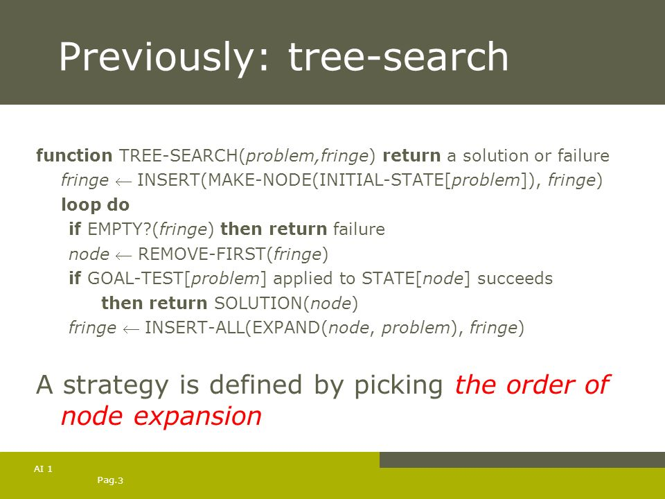 Previously: tree-search
