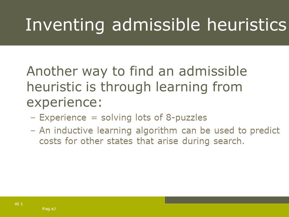 Inventing admissible heuristics