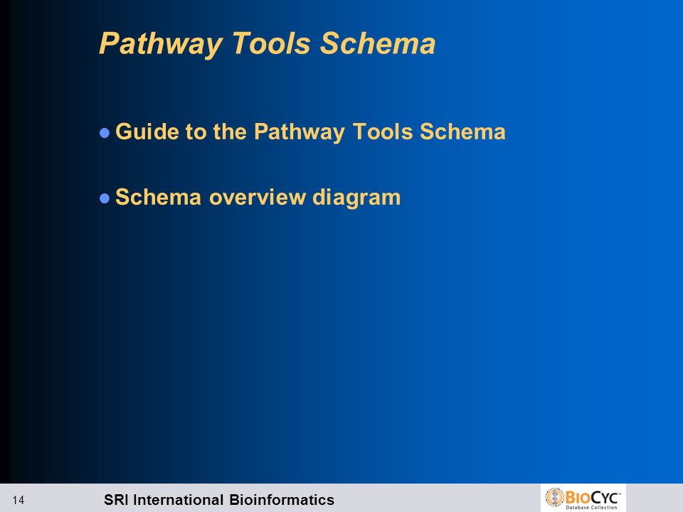 Pathway Tools Schema Guide to the Pathway Tools Schema