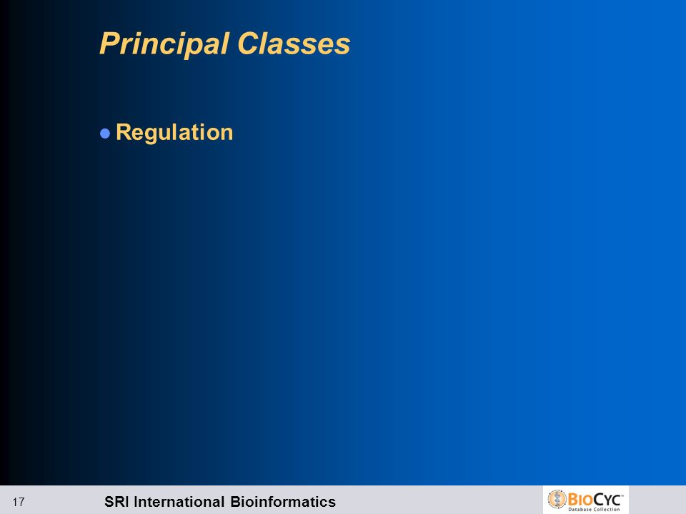 Principal Classes Regulation