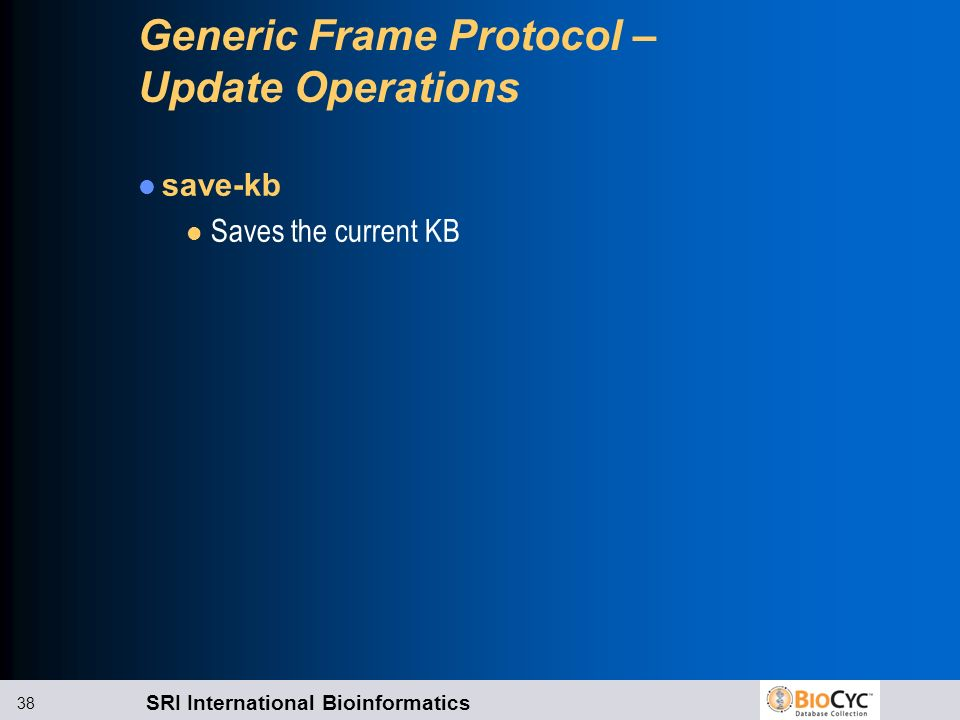 Generic Frame Protocol – Update Operations